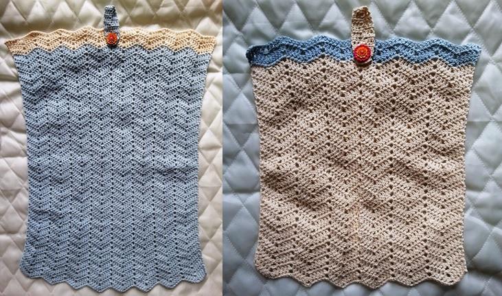 Lyselbåt Gæstehåndklæder og Crem farvet vaskeklud