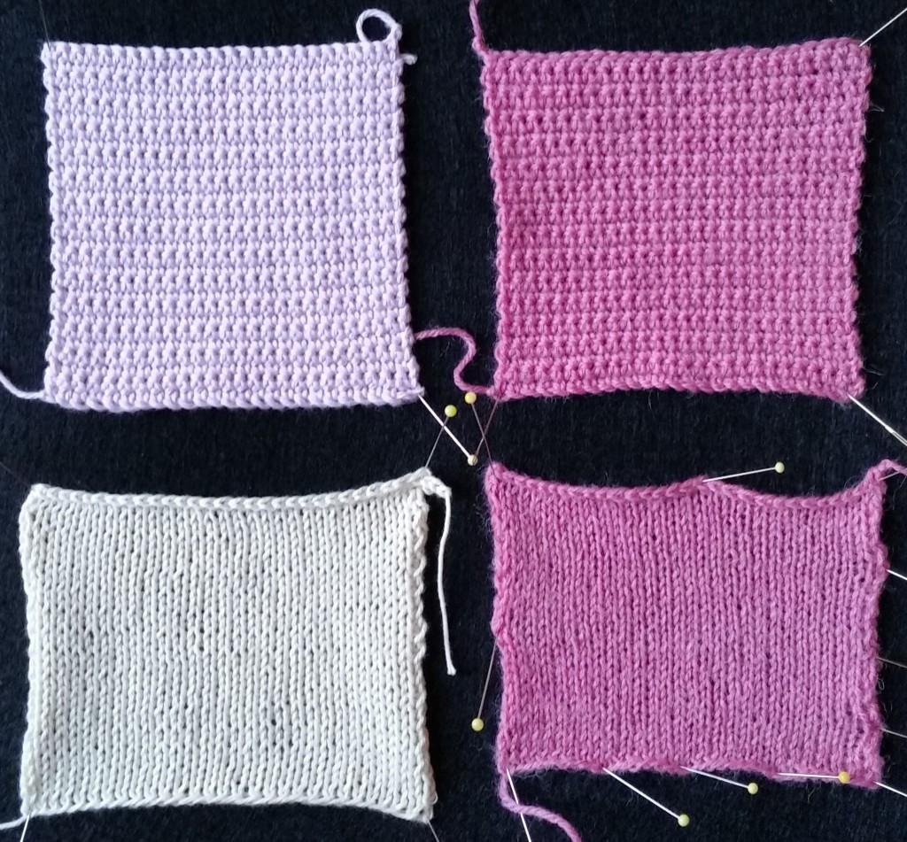 Hækle og strikke fasthed i bomuld og uld