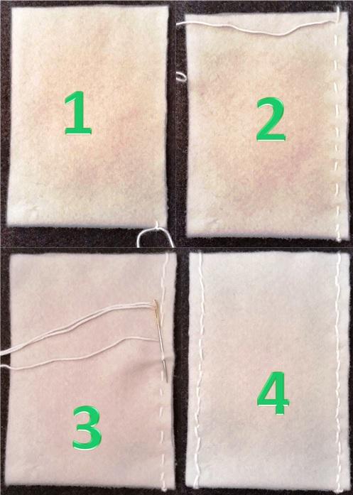 3 Sådan syes filten sammen