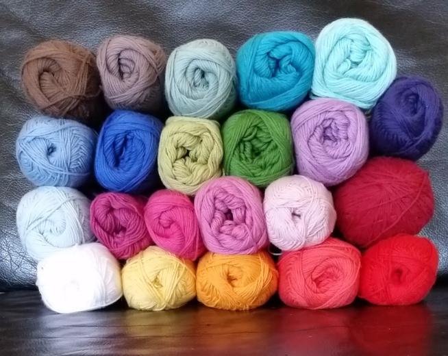 Sophie tæppe garnfarver