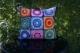 Hæklede pude med firkanter