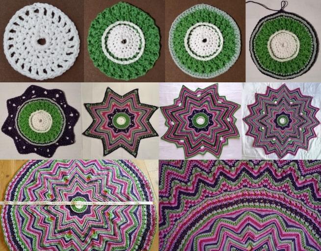 Billeder fra 1 til 11 mit stjerne tæppe