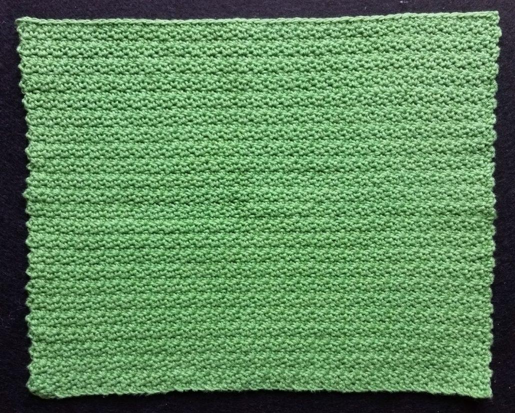 billede af det tredje hæklemønster billede af hæklet vaskeklud i grumsmønster