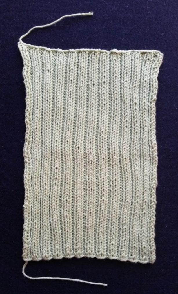 Dobbelt rib strikkede klud