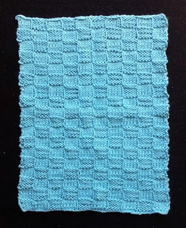 Strikkede klud i håndklæde tern strikkemønster