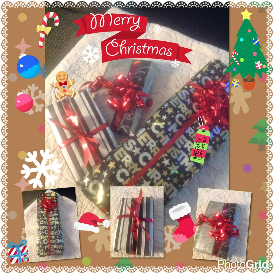 1 billed med 3 julegaver på