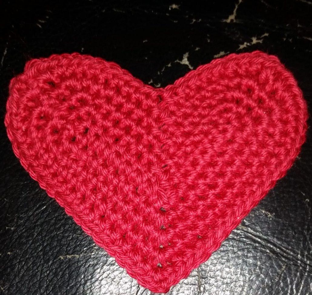 stort hjerte billed af stort hæklet hjerte