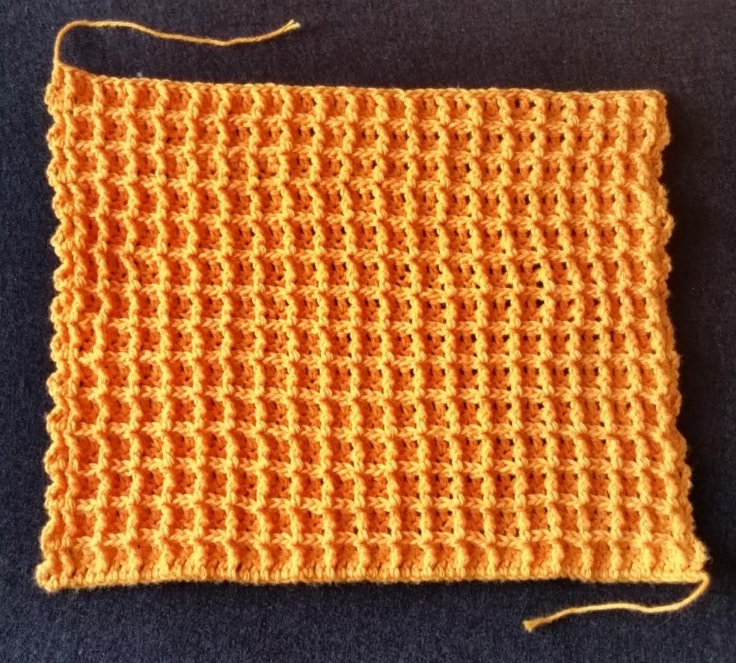 Vaffe mønster billed af hæklet vaffel mønster vaskeklud