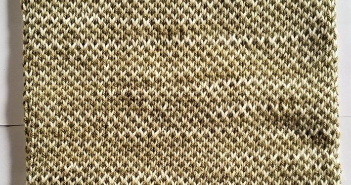 billed af færdigt strikket fair isle strikkeprøve 2