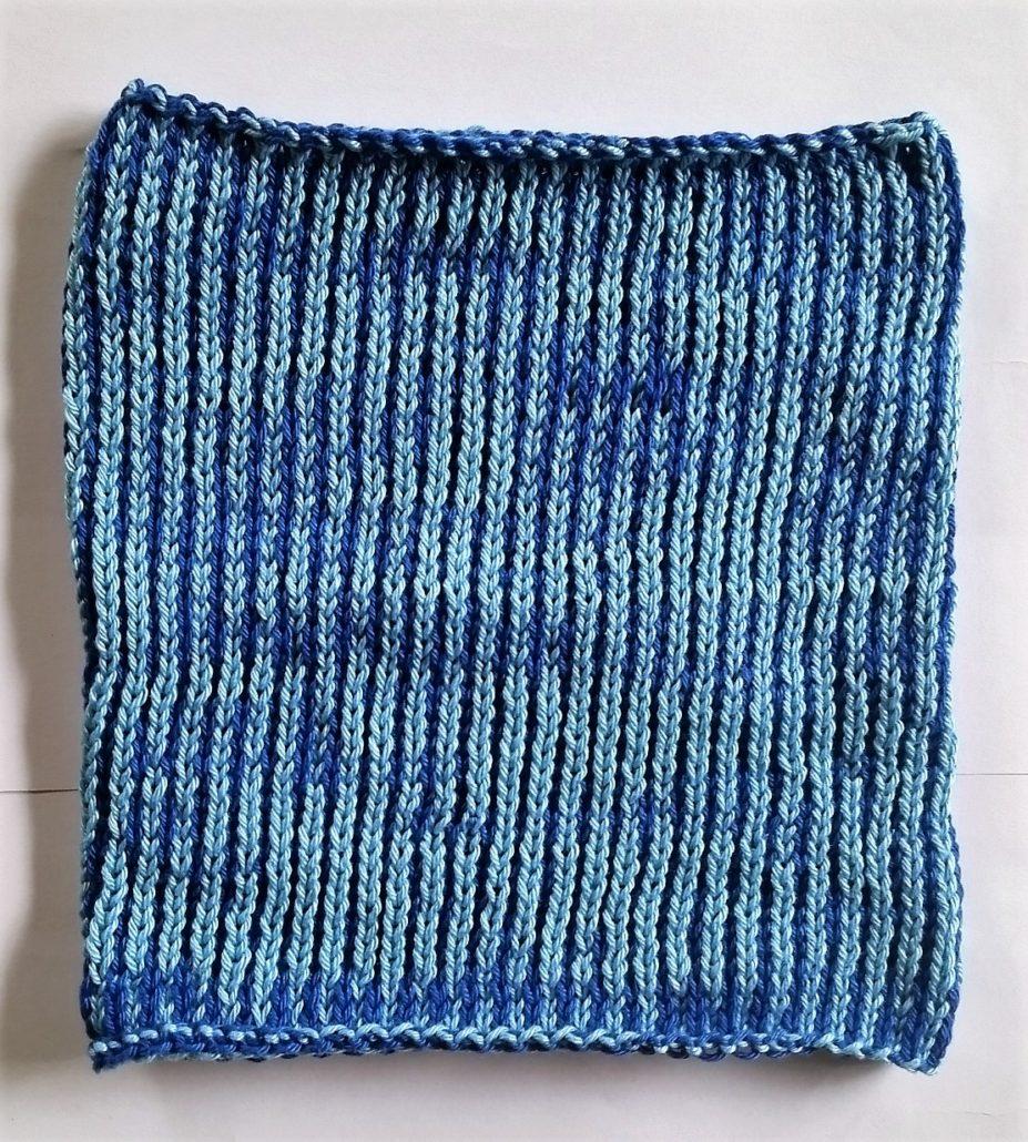 billed af strikkeprøve 1 strikket færdigt