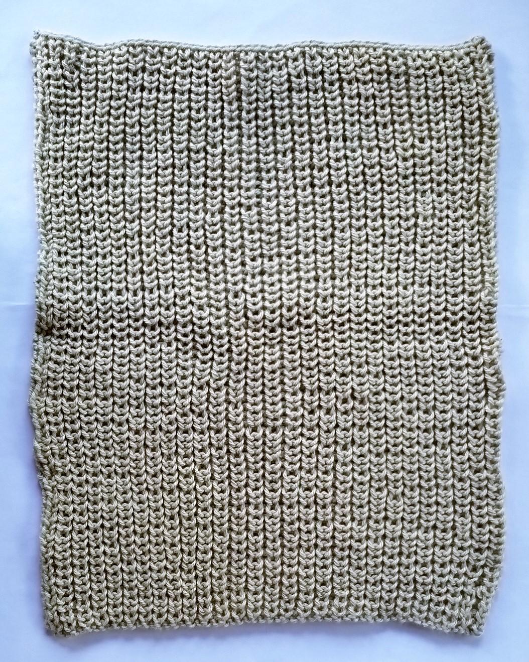 Halvpatent billed af halvpatent strikket vaskeklud
