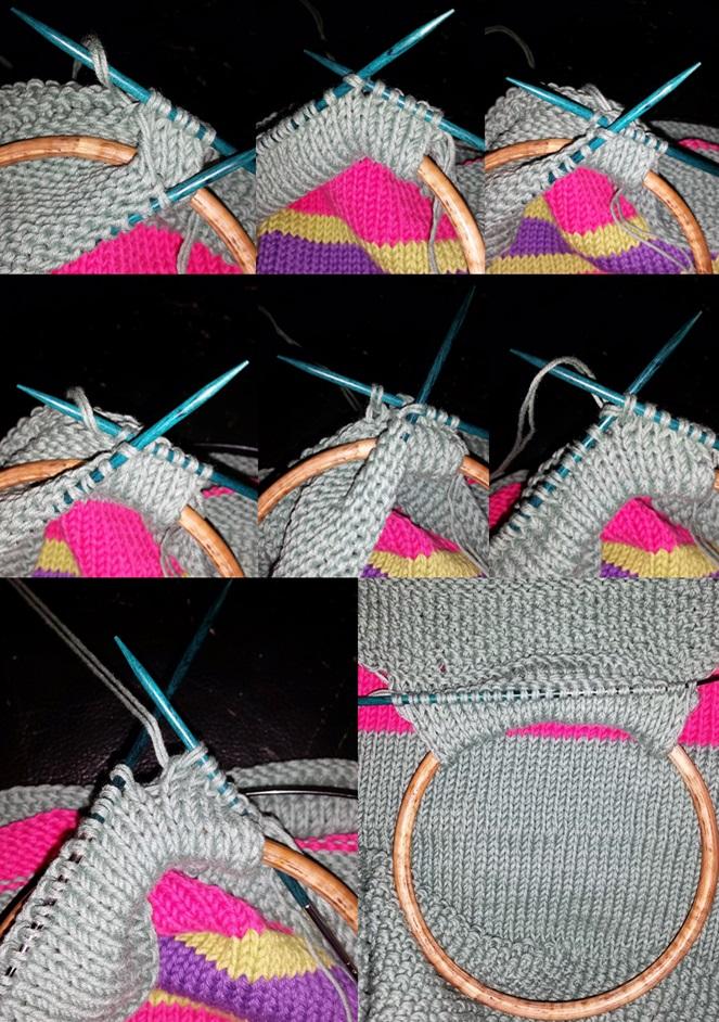 strikketøjstaske billed 3 bisen strikkes om hanken