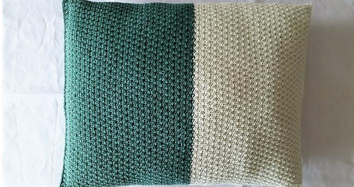 Billed 1 pude i fjer strikkemønster
