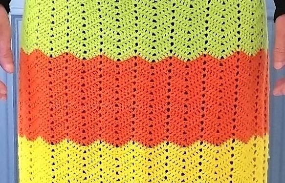 Zigzag stribet forklæde