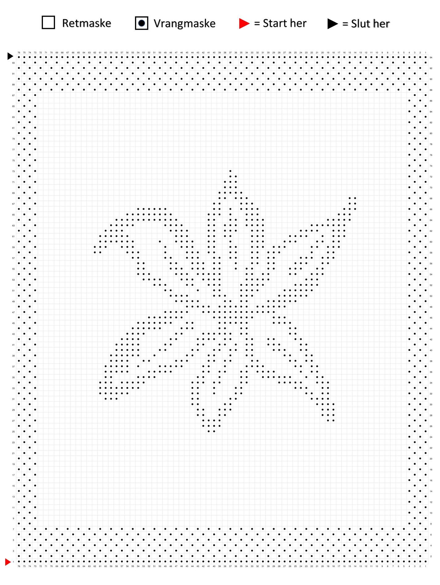 Lilje mønster klude strikkediagram