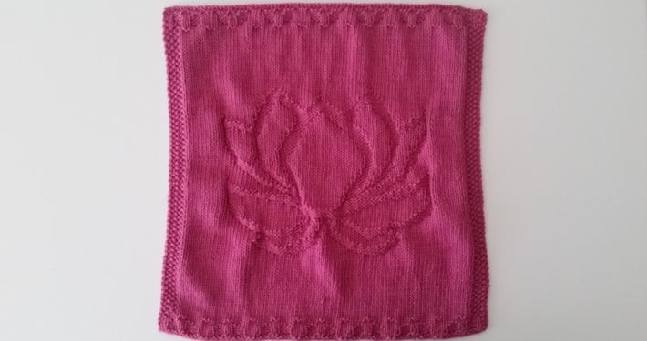 billed af færdig strikket lotus klud
