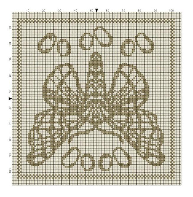 Billed af strikkemønster 1 til del 5 i strikke KALen
