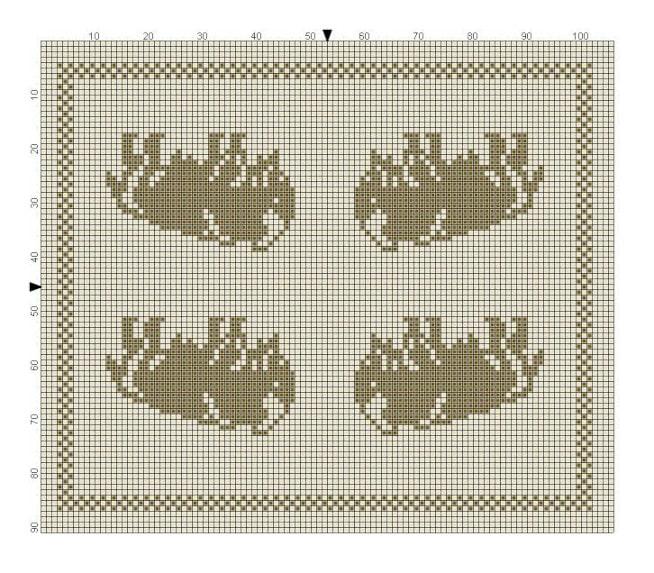 Billed af Moskusokse strikkemønter til del 6